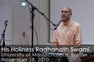 Radhanath Swami in Boston
