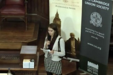 Swami Radhanath at Cambridge Union Society