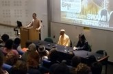 Radhanath Swami with Stephen Chan
