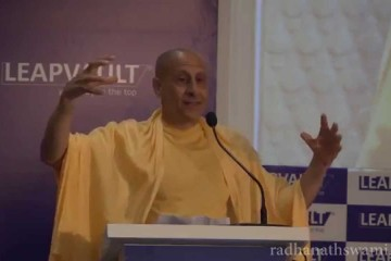 Radhanath Swami at the CLO Summit