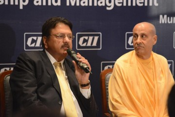 Radhanath Swami at CII: Leadership, Spirituality and Management